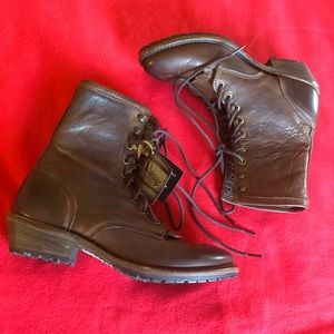 Brand New Vintage Leather Lace Up Boots